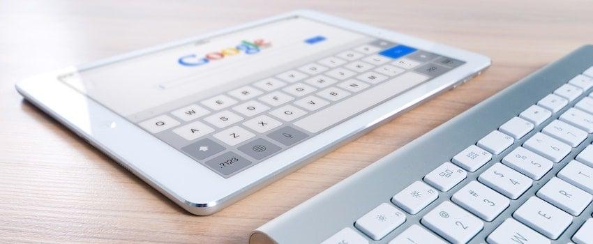 iPad con búsqueda de Google